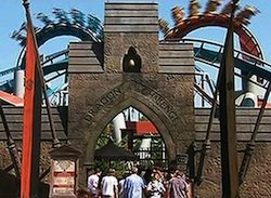 Entrance of Dragon Challenge at The Wizarding World of Harry Potter