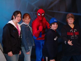 Spiderman and the kids